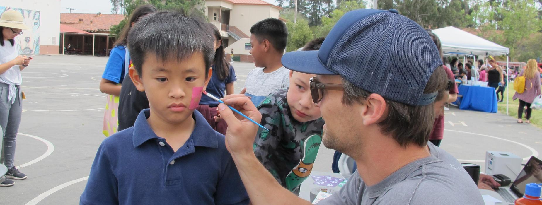 Marguerita students get face painted