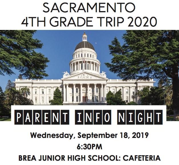 Sacramento 4th Grade Trip