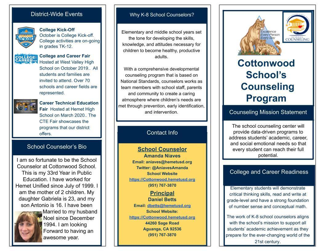 Counseling Services Brochure