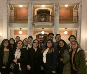 2019-2020 Mock Trial Team with Advisor Malizia