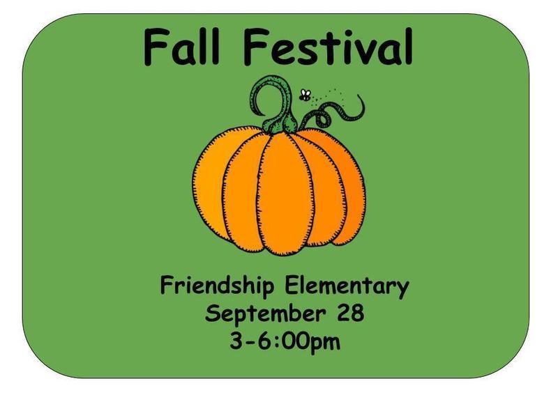 Fall Festival September 28 at Friendship Elementary