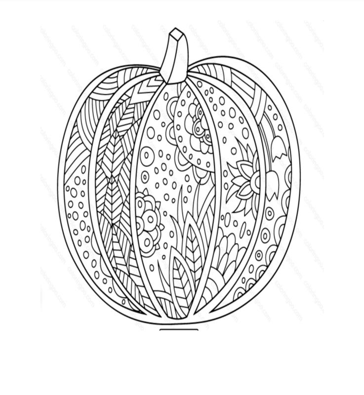 Pumpkin coloring page for the virtual Halloween art contest