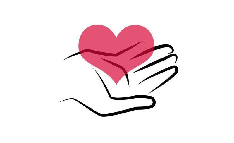 We Care heart in hand graphic