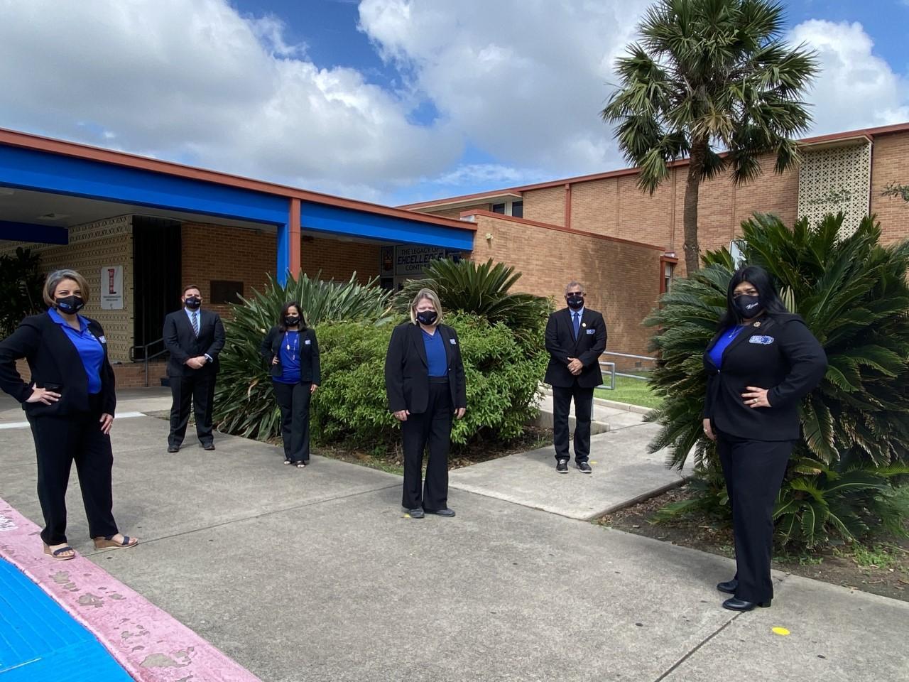 admin front of school