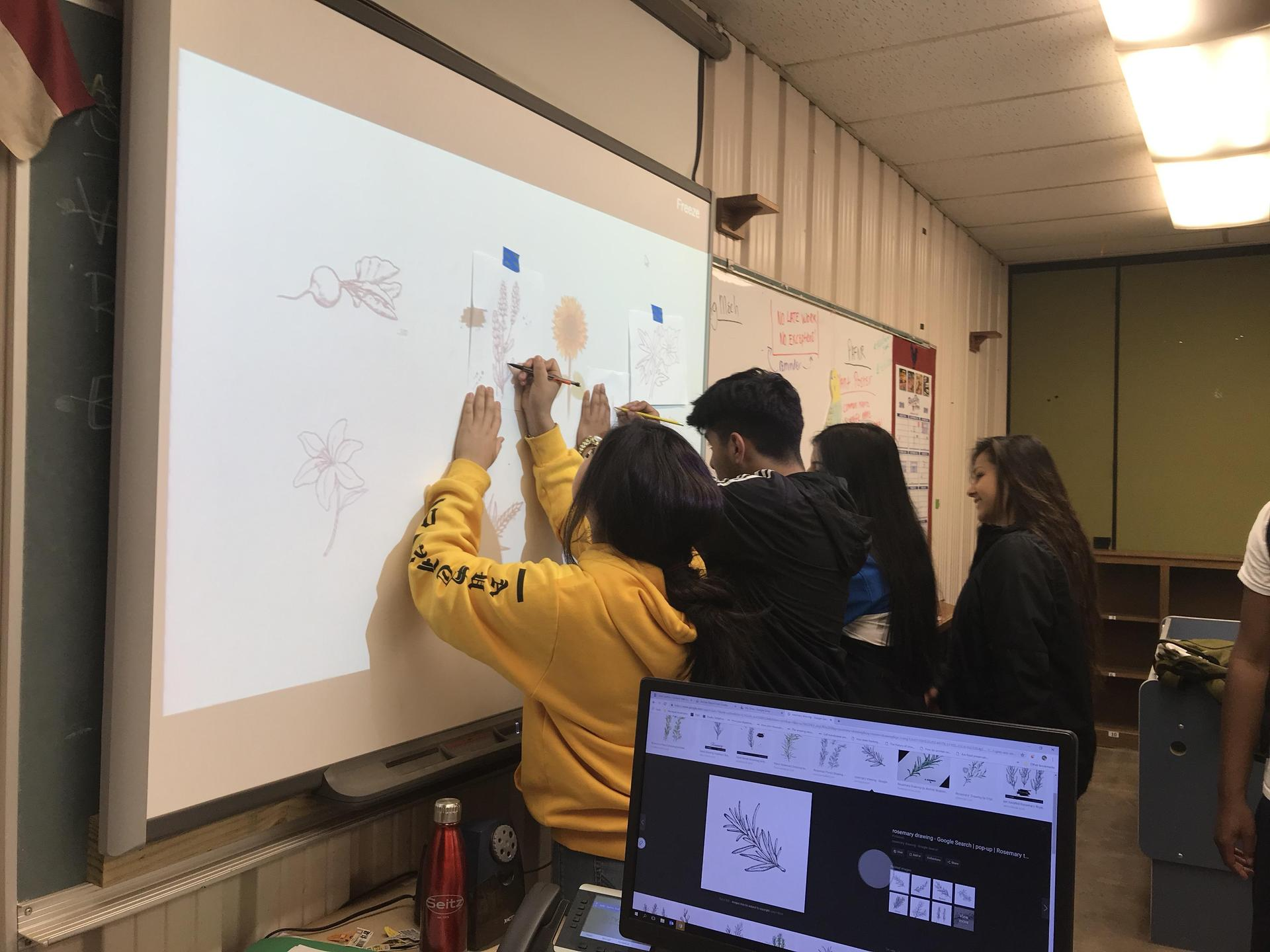 Students work on project