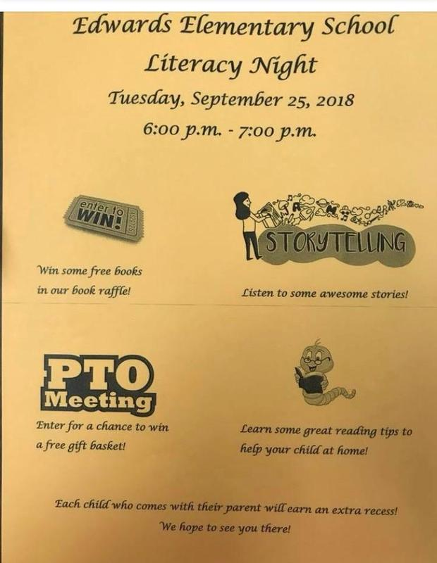 Literacy Night Date Changed to October 2 Featured Photo