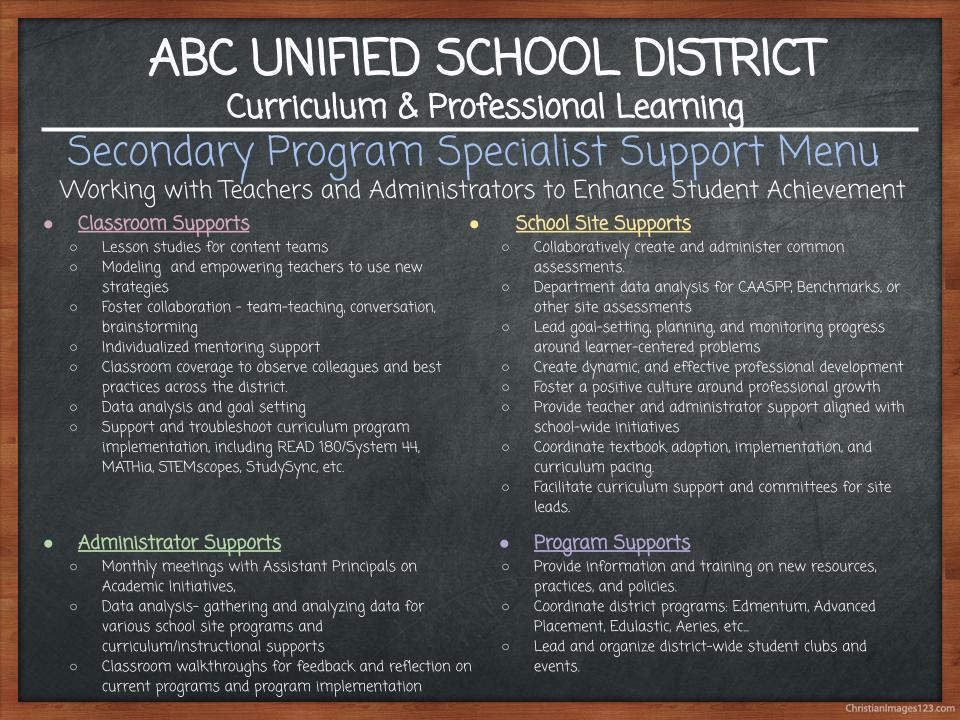 Secondary Education – Secondary Education – ABC Unified