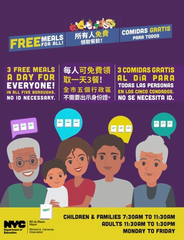 Come get your free meals at P.S. 29! Featured Photo