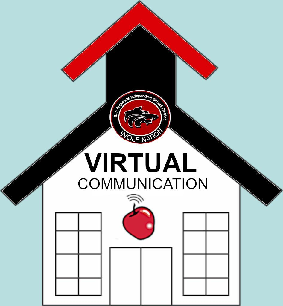 Virtual Communication House with an Apple on it