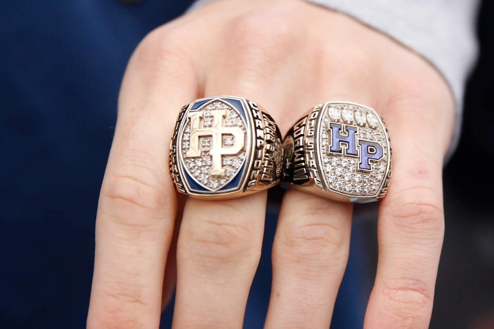HP Scots football state champions rings