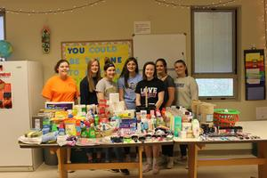 FCCLA members and donations