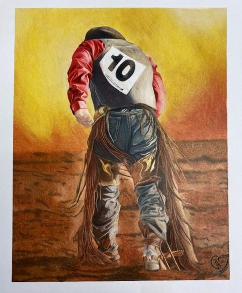 Western Art Show Cowboy painting