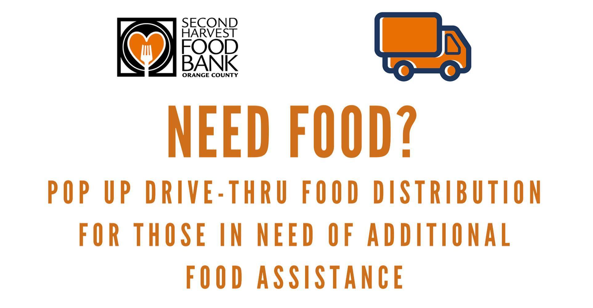 Second Harvest Food Bank: Pop Up Drive-Thru Food Distribution