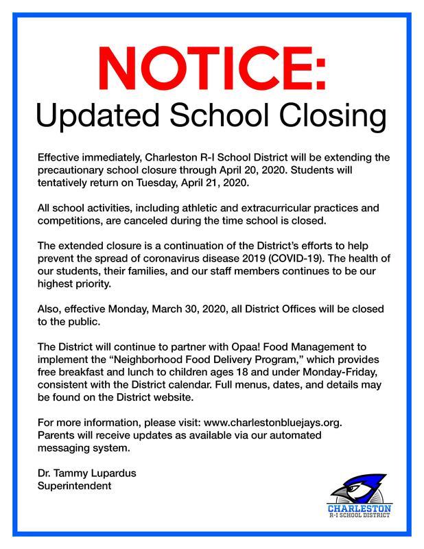 Notice - School Closing Update