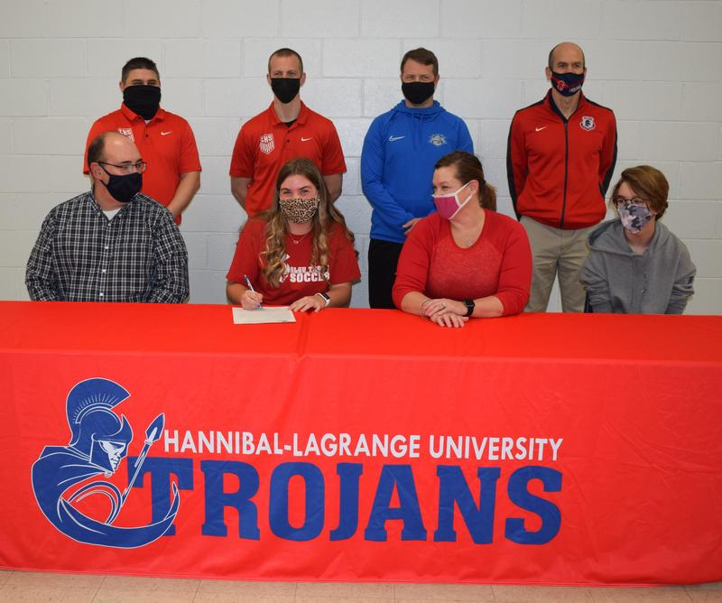 Senior Isabelle Stoops signs letter of intent to play soccer at Hannibal-LaGrange University