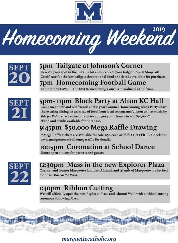 homecoming schedule