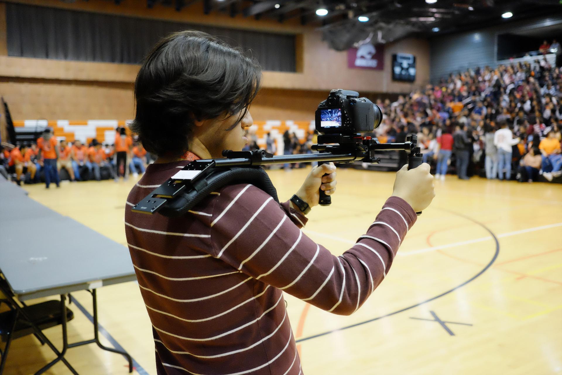 Pep Rally Film Crew