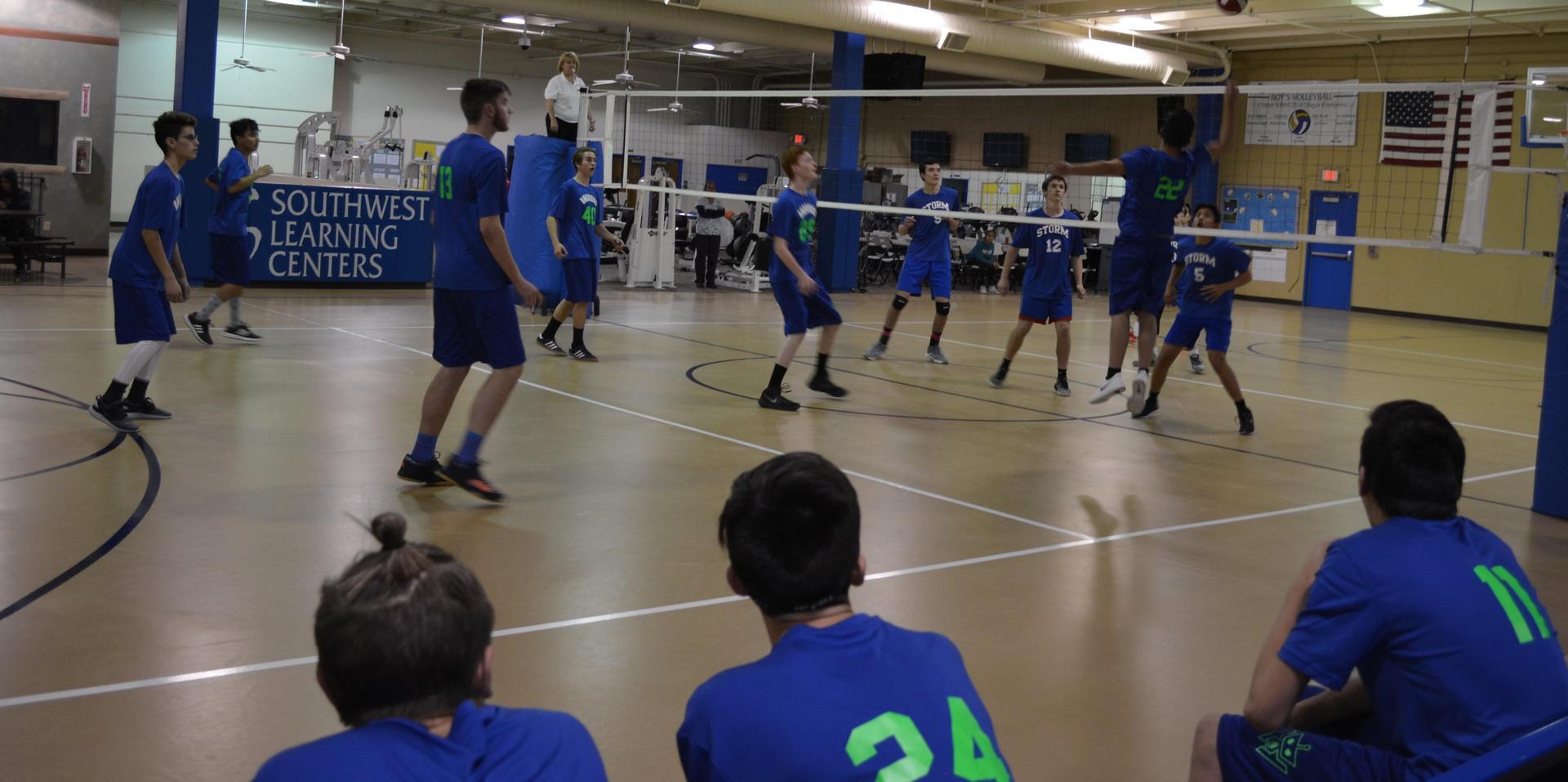 High School Boys Volleyball Game