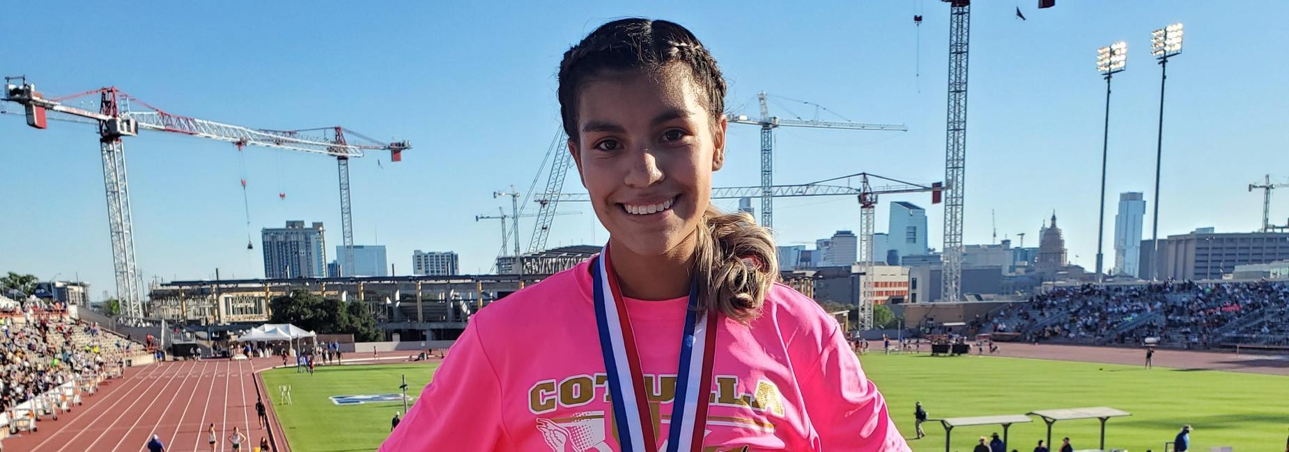 Raeann Charo 100m 3rd place