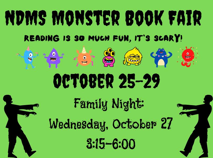 NDMS Monster Book Fair October 25-29