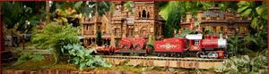 miniature train in garden