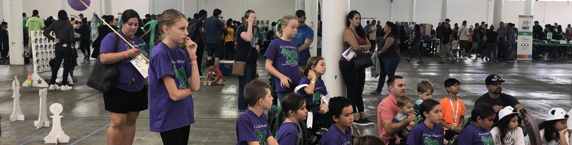Watching high school robots in action!