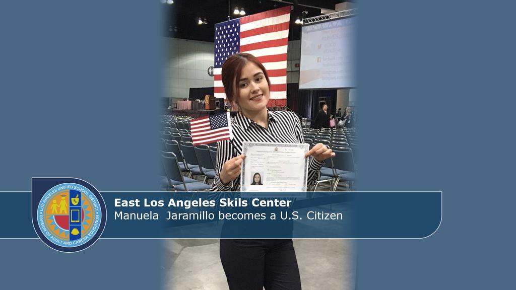 ELASC Manuela Becomes Citizen
