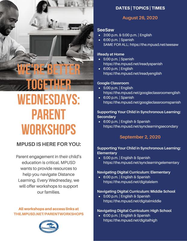 Parent Workshops: We're Better Together Wednesdays Featured Photo
