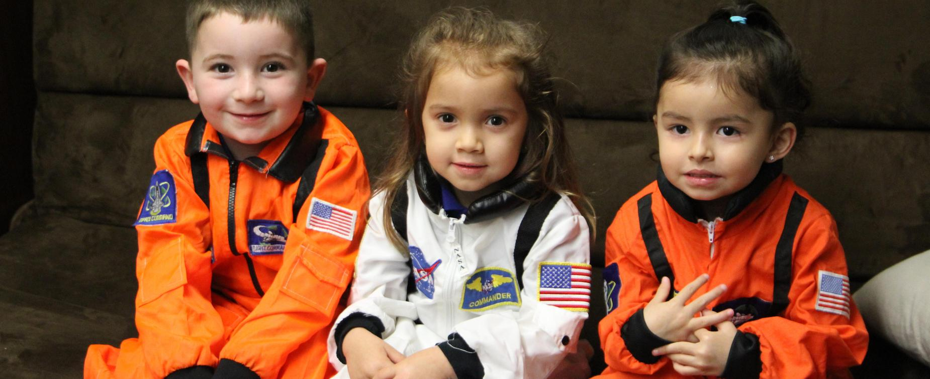 Early childhood students as astronauts