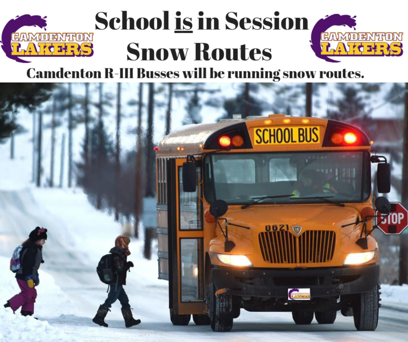 School is in Session Moday, February 18th  -  Snow Routes will be used for both AM and PM  routes Featured Photo