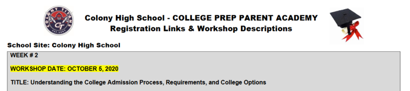 College Prep Parent Academy