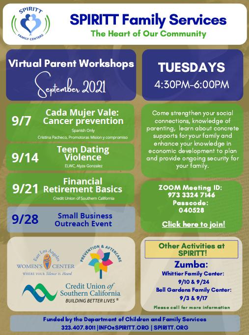 Parent Workshops