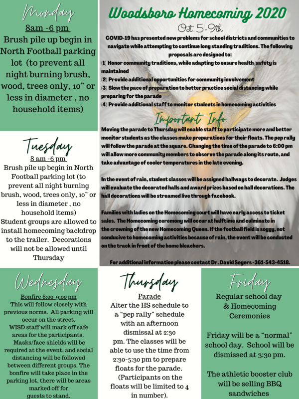 Homecoming 2020 Information Featured Photo