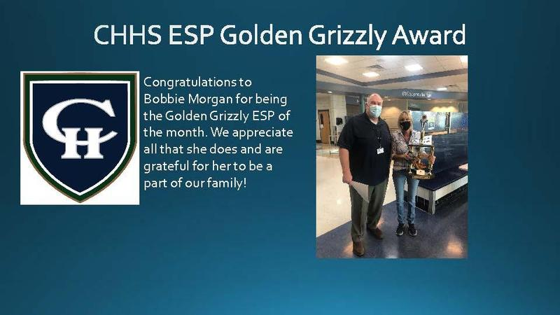 CHHS ESP Golden Grizzly for October