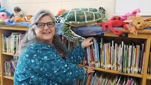 Mrs. Melanie Smith, our new librarian
