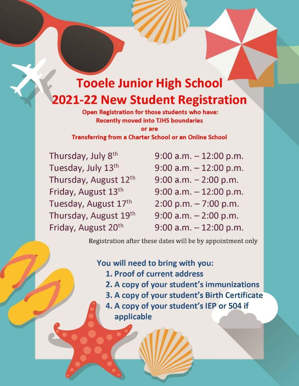 2021-22 New Student Registration