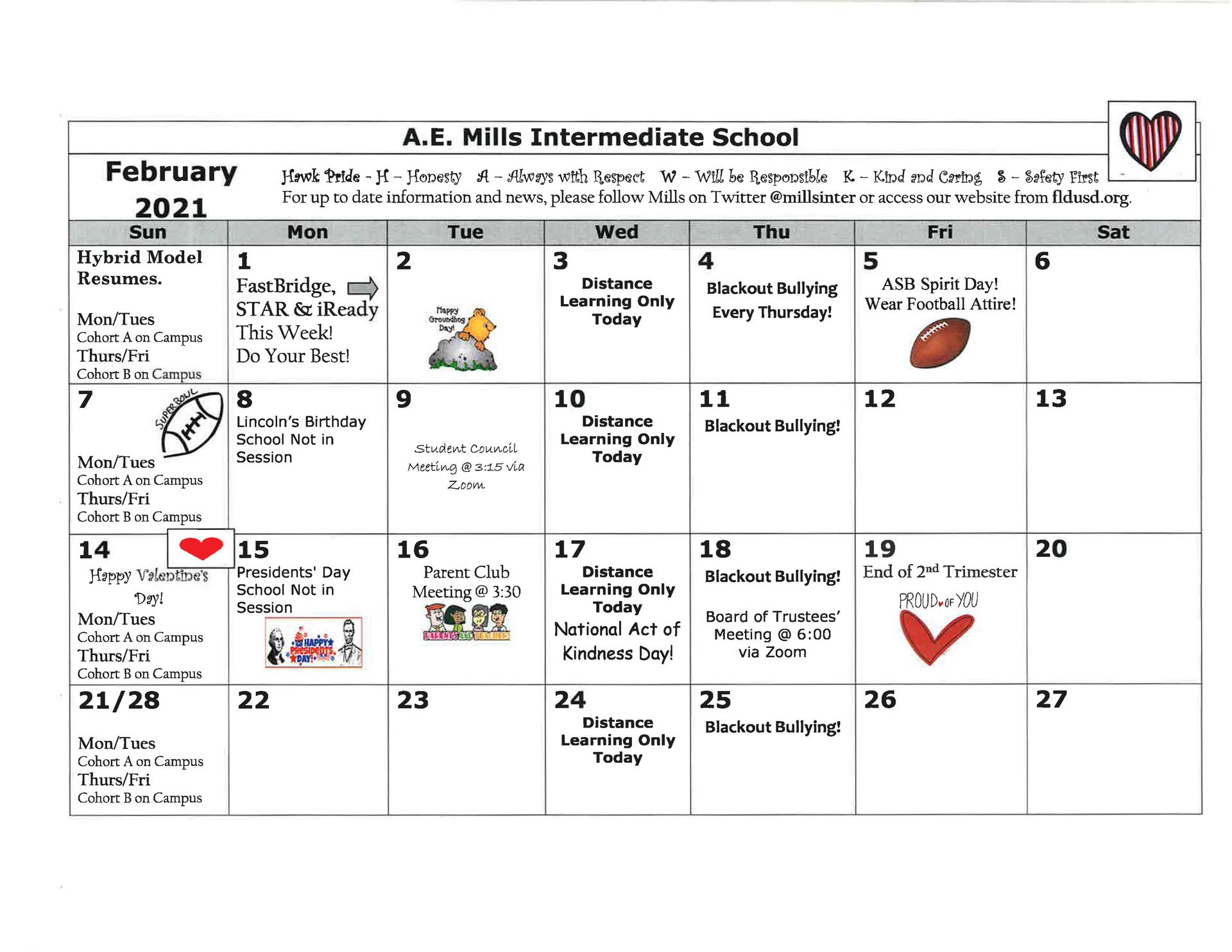 Feb. Calendar