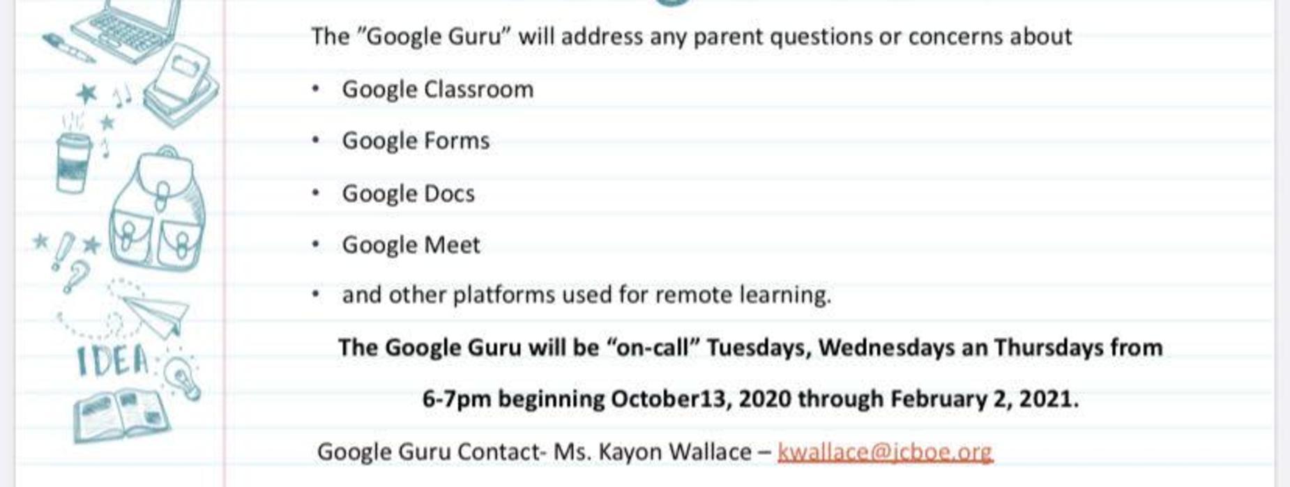 Google Guru kwallace@jcboe.org