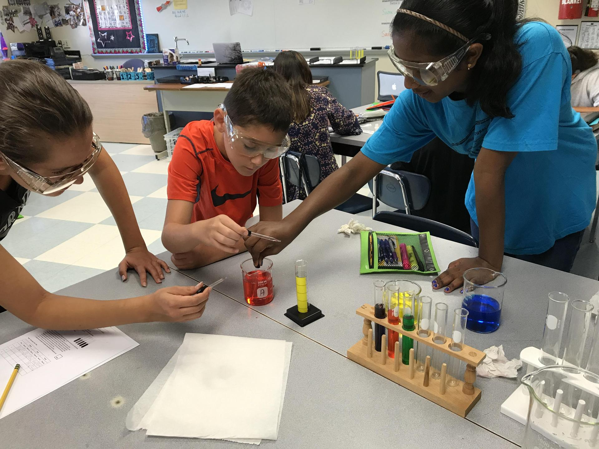 Students Experimenting