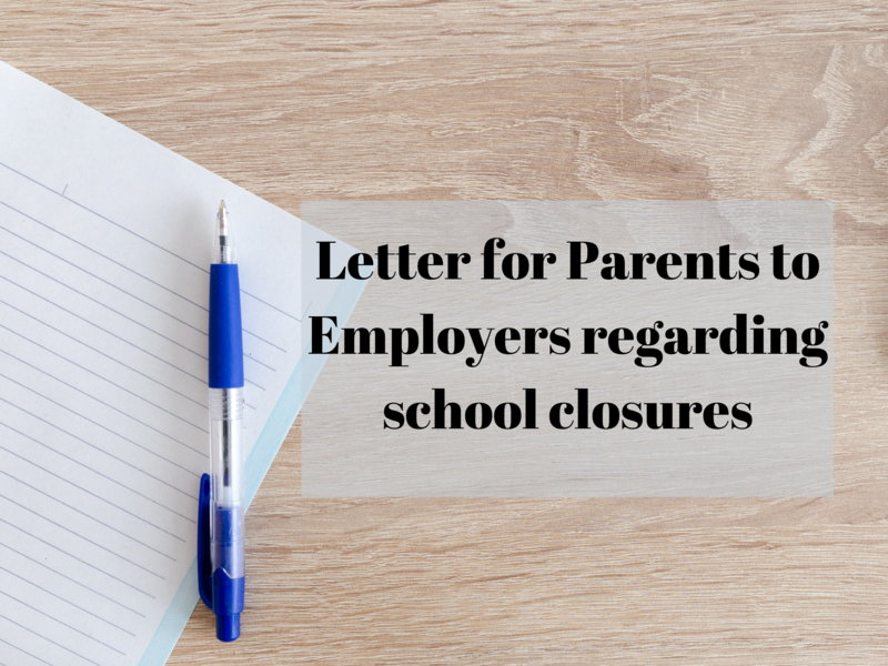 Letter for Parents to Employers