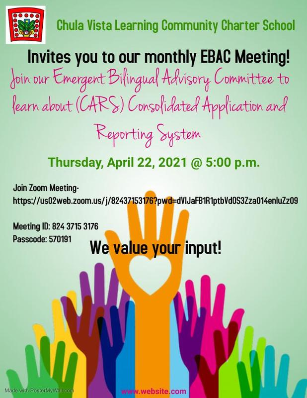 CVLCC INVITES YOU TO OUR MONTHLY EBAC MEETING! Featured Photo