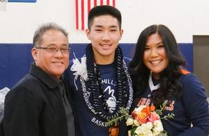 Brandon and his parents