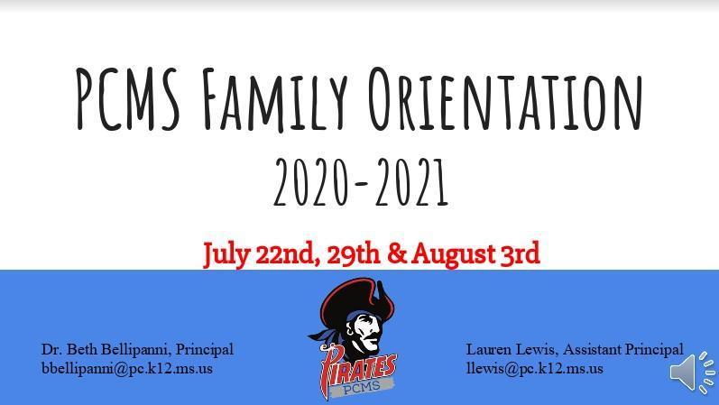 PCMS Orientation 20-21