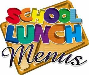School Lunch Menu clip art
