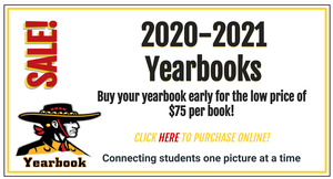 Buy your yearbook early for the low price of $75 per book!   CLICK HERE TO PURCHASE ONLINE!   Connecting students one picture at a time