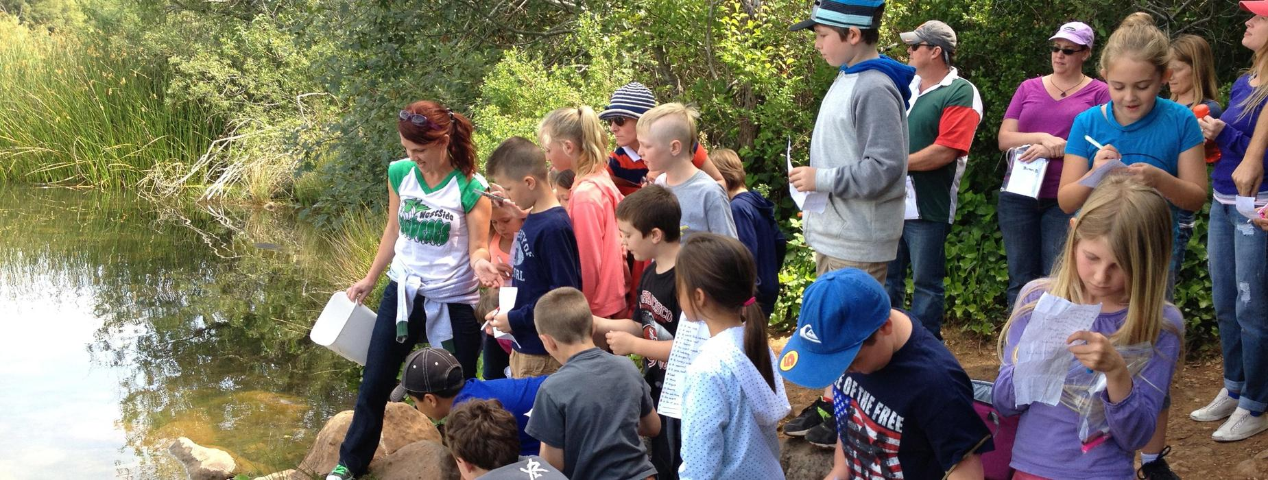 3rd Graders' Fish Release in Felta Creek