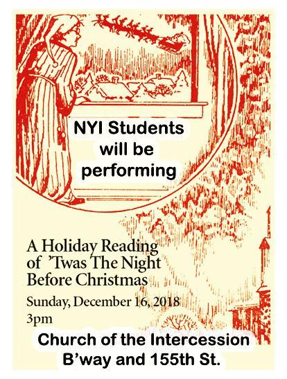 http://www.intercessionnyc.org/events-December 16 at 3PM/a-holiday-reading-of-clement-clarke-moores-a-visit-from-saint-nicholas