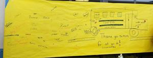 Sign made by students for Bus Driver Appreciation Week