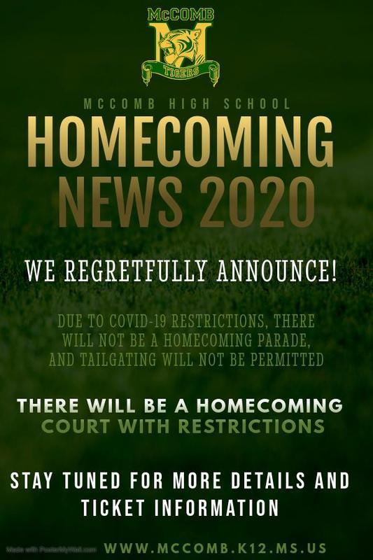 McComb High School Homecoming News 2020