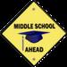 Middle school ahead logo
